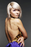 Glamour model with naked back Royalty Free Stock Image
