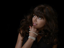 Glamour Model with pearls Royalty Free Stock Photo