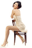 Glamour på en stol Royaltyfria Foton