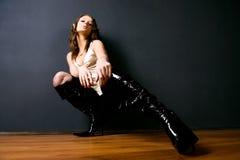 glamour photo studio woman young Στοκ εικόνα με δικαίωμα ελεύθερης χρήσης