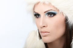 Glamour photo of winter beauty Stock Photography