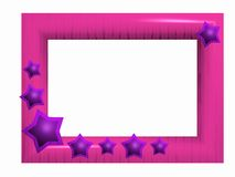 Glamour photoframe. Pink 3d photoframe on white backgrounds Royalty Free Stock Images