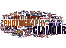 Glamour Photography Word Cloud Concept Stock Images