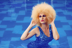 Glamour in pool Royalty Free Stock Photo
