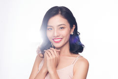 Glamour portrait of beautiful ASIAN woman model with nice makeup Stock Photography