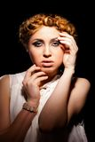 Glamour portrait of beautiful blonde girl Royalty Free Stock Photo