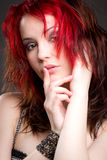 Glamour portrait of beautiful red Royalty Free Stock Image