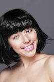Glamour portrait of beautiful smiling woman model Royalty Free Stock Photography