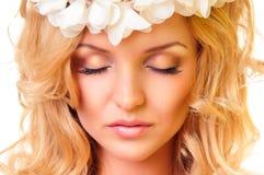 Glamour portrait of beautiful woman Stock Photo