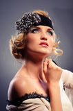 Glamour portrait of beautiful woman Royalty Free Stock Photography