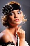 Glamour portrait of beautiful woman Stock Photos