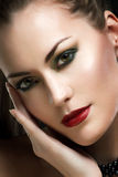 Glamour portrait of a beautiful woman Royalty Free Stock Image