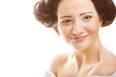 Glamour portrait of beautiful woman Royalty Free Stock Photos