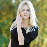 Glamour portrait of beautiful woman model outdoor Royalty Free Stock Photos