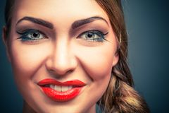 Glamour portrait of blond woman Royalty Free Stock Photo
