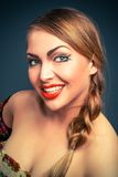 Glamour portrait of blond woman Stock Images