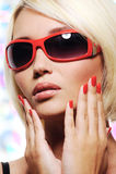 Glamour portrait of caucasian woman Stock Photos
