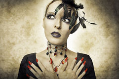 Free Glamour Portrait In Retro Style Of Beauty Woman Royalty Free Stock Photo - 21047795
