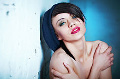 Glamour Portrait of sexy woman Royalty Free Stock Photos