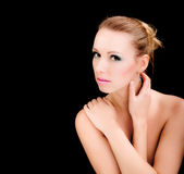 Glamour portrait of woman, beauty fashion model Stock Image
