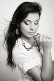 Glamour portrait of young sensual woman Royalty Free Stock Photography