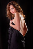 Glamour portret of beauty woman with naked back and shoulder Royalty Free Stock Photography