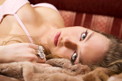 Glamour pretty girl. Stock Photography