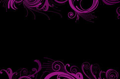 Glamour Purple Curves Frame Background Stock Image