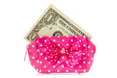 Glamour purse with dollar Royalty Free Stock Image
