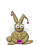Glamour Rabbit Royalty Free Stock Image