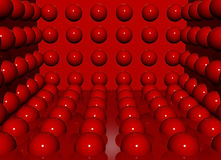 Glamour red balls Stock Photography