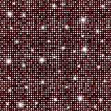 Glamour red, black and white shining rounds seamless texture background Stock Photo