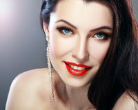 Glamour red lips Royalty Free Stock Photos