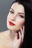 Glamour red lips Royalty Free Stock Photography
