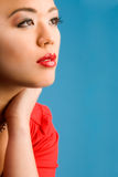 Glamour red make up Royalty Free Stock Photos