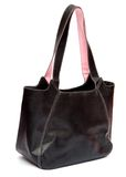 Glamour`s bag. Glamour`s pink bag. isolated on white Royalty Free Stock Image