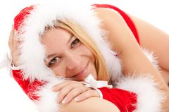 Glamour santa woman Royalty Free Stock Image