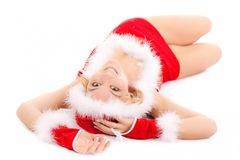 Glamour santa woman Royalty Free Stock Photography
