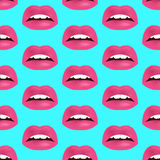 Glamour seamless lip pattern. Vector illustration for fashion design Royalty Free Stock Images