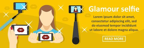 Glamour selfie banner horizontal concept Royalty Free Stock Images