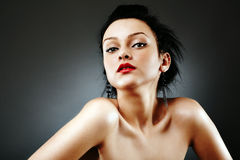 Glamour sexy young female portrait Stock Photo