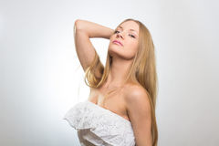 Glamour sexy young woman portrait Stock Photo