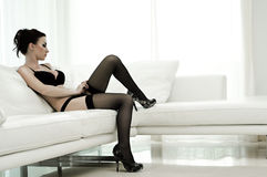 Glamour shot of a beautiful woman Royalty Free Stock Photo