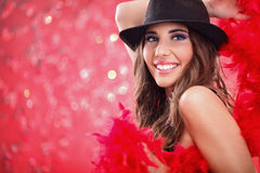 Glamour showgirl Royalty Free Stock Image