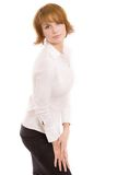 Glamour sight. Glamour girl on a white background stock images