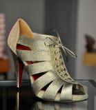 Glamour silver sandal Stock Image