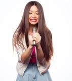 Glamour singer girl Stock Photography