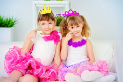 Glamour sisters together Royalty Free Stock Photo