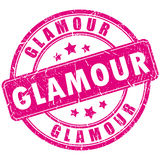 Glamour stamp. Glamour vector stamp isolated on white background Stock Photography