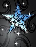 Glamour star. Vector illustration with glamour star-shape vector illustration